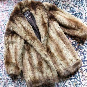 Olympia Limited Inc Faux Fur Coat